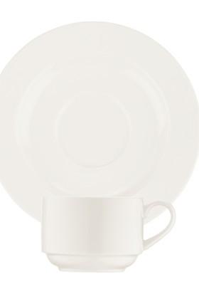 Bonna Porselen Banquet Kahve Fincanı Tabağı 6'lı