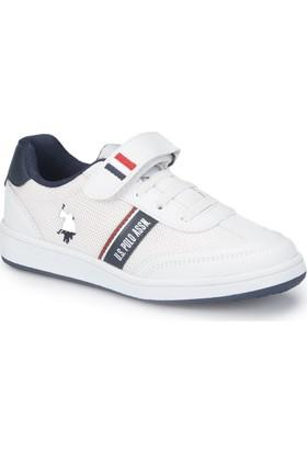 U.S. Polo Assn. Kares Beyaz Erkek Çocuk Sneaker