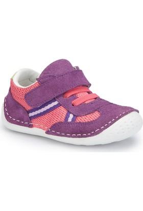 Polaris 81.510007.I Mor Kız Çocuk Deri Sneaker