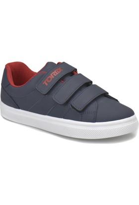 Torex Lino Lacivert Kırmızı Erkek Çocuk Sneaker