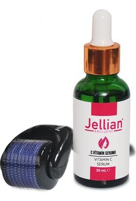 Jellian Dermaroller 0,50 mm + Leke Giderici C Vitamin Serum Seti
