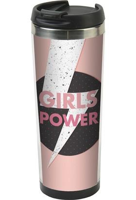 Allmug İçi Çelik Termos - Girls Power