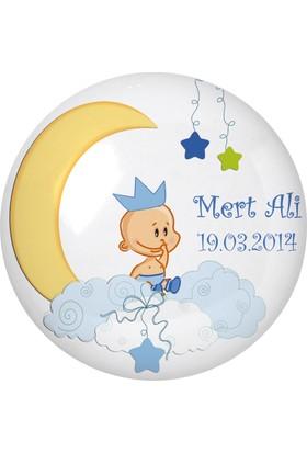 Famous İsim Baskılı Magnetli Kapak Açacak Bebek Şekeri Baby Shower