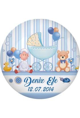 Famous İsim Baskılı Magnetli Kapak Açacak Bebek Şekeri Baby Shower 24 Adet