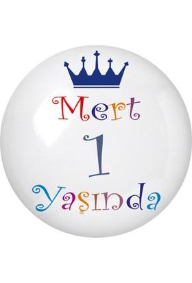Famous İsim Baskılı Magnetli Kapak Açacak Doğum Günü 1 Yaş Doğum Günü Partisi 24 Adet
