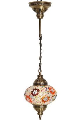 Demmex Büyük Otantik Tavan Sarkıt Avize Mozaik Lamba Gece Lambası