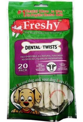Freshy Dental Twists - Sütlü Burgu Çubuk - 100'Lü Mega Paket