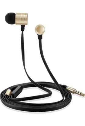 Case 4U Piston Gürültü Önleyici 3.5 mm Mikrofonlu Kulaklık Altın