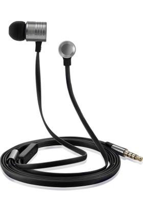 Case 4U Piston Gürültü Önleyici 3.5 mm Mikrofonlu Kulaklık Koyu Gri