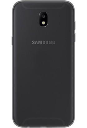 Case 4U Samsung Galaxy J7 Pro 2017 Kılıf 2 mm Silikon Arka Kapak Füme