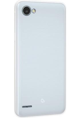 Case 4U LG Q6 Silikon Kılıf Şeffaf
