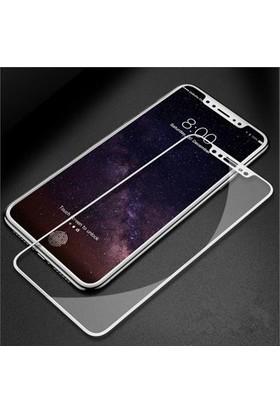 Eretna Apple iPhone X 7D 9H Cam Full Ekran Koruyucu - Beyaz
