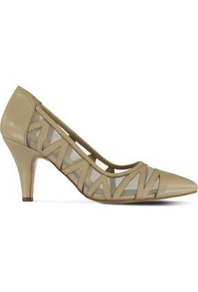 Marjin Otir Topuklu Ayakkabı Bej