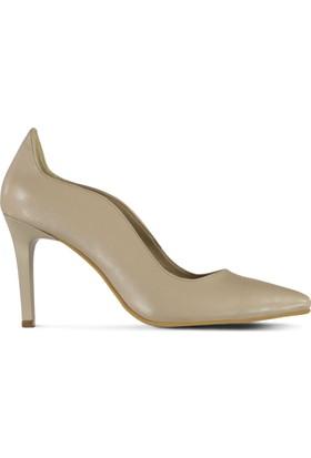 Marjin Almis Topuklu Ayakkabı Bej