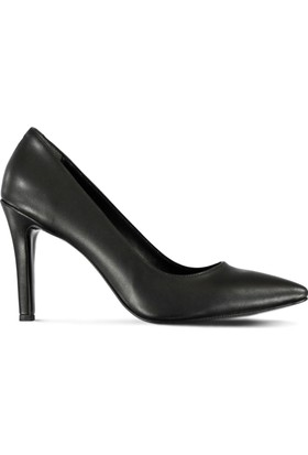 Marjin Batin Topuklu Ayakkabı Siyah