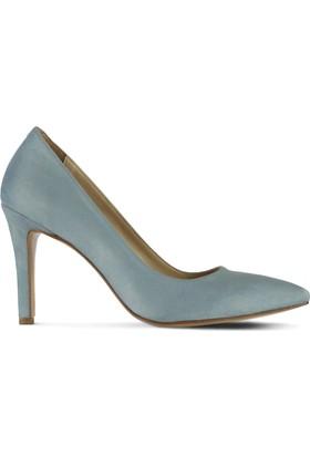 Marjin Batin Topuklu Ayakkabı Buz Mavisi