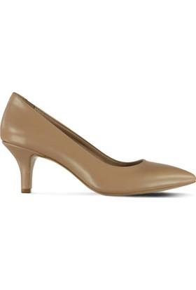 Marjin Ledi Topuklu Ayakkabı Bej