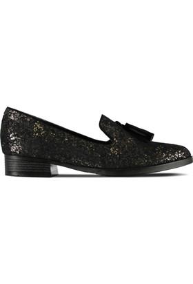 Marjin Yavi Düz Ayakkabı Altın
