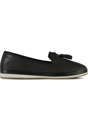 Marjin Resal Düz Deri Ayakkabı Siyah