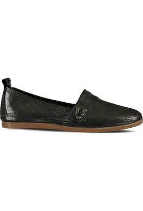 Marjin Mako Düz Deri Ayakkabı Platin Sim
