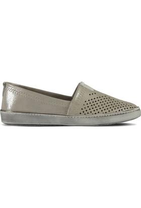 Marjin Selar Düz Deri Ayakkabı Gümüş Sim