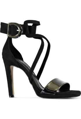 Marjin Malis Platform Topuk Ayakkabı Platin