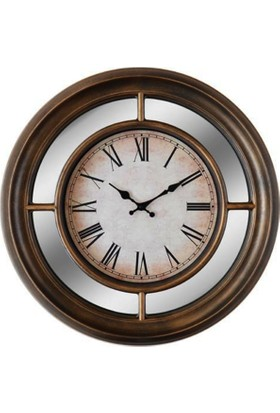 GizHome Vintage Saat Qh2203B-Tr09 Roma Rakamlı Metalik Kahverengi