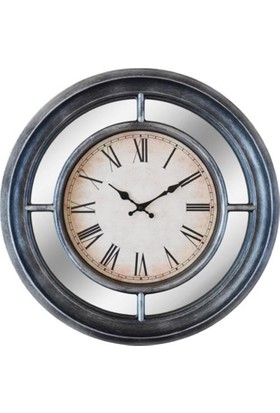GizhHome Vintage Saat Qh2203C-Tr08 Roma Rakamlı Metalik Gri