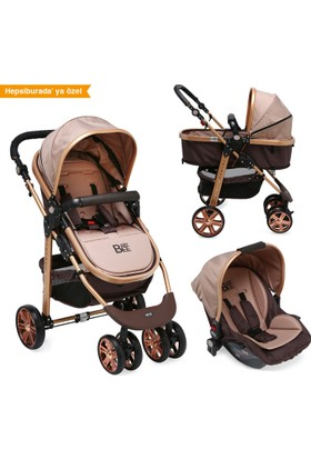 Babybee 540 Gold Travel Sistem Bebek Arabası 3 In 1
