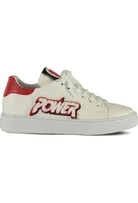 Marjin Atura Düz Spor Ayakkabı Kırmızı