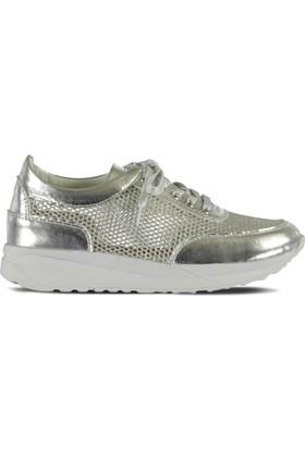 Marjin Medi Düz Spor Ayakkabı Gümüş