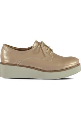 Marjin Osil Düz Ayakkabı Pudra Altın
