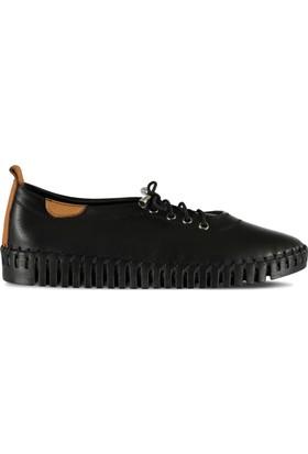 Marjin Seli Düz Ayakkabı Siyah