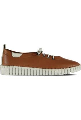 Marjin Seli Düz Ayakkabı Taba