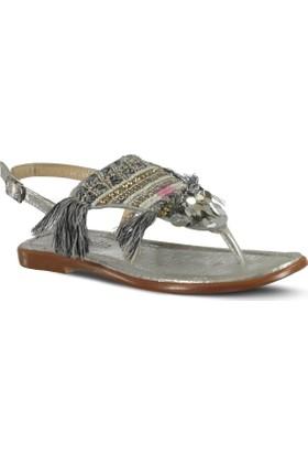 Marjin Heza Düz Sandalet Gümüş