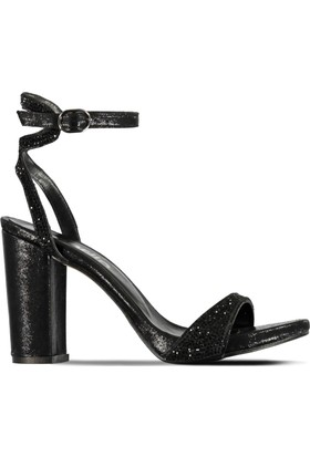 Marjin Salis Topuklu Abiye Ayakkabı Siyah