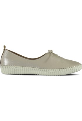 Marjin Antise Düz Ayakkabı Gümüş