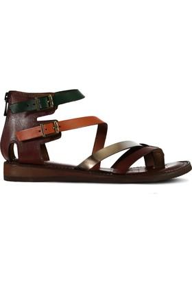 Marjin İnaki Düz Deri Sandalet