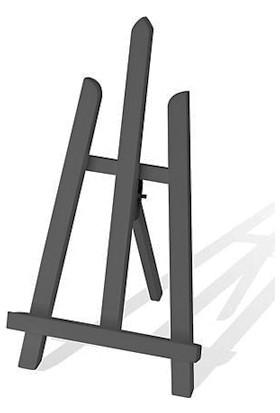 hobi24 Masaüstü Renkli Dekoratif Şövale - Siyah