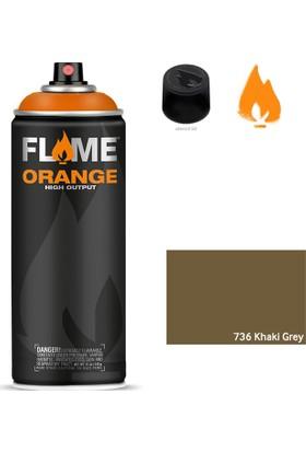 Flame Orange 400ml Sprey Boya N:736 Khaki Grey