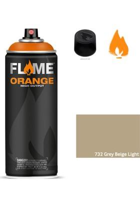 Flame Orange 400ml Sprey Boya N:732 Grey Beige Light
