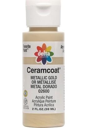 Plaid Delta Creative Ceramcoat Akrilik Boya - N:02600 Metallic Gold