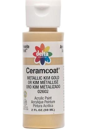 Plaid Delta Creative Ceramcoat Akrilik Boya - N:02602 Metallic Kim Gold