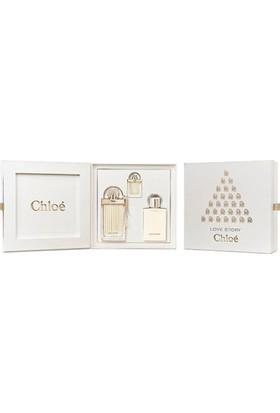 Chloe Love Story Edp 75 Ml + 7.5 Ml + Body Lotion 100 Ml