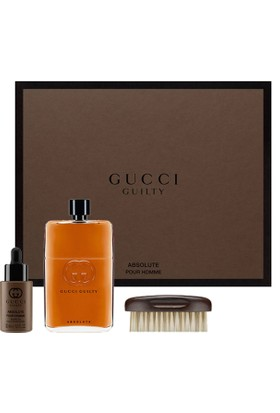 aeb0b2f573aa Gucci Guilty Absolute Pour Homme Edp 150 Ml + Sakal Yağı 30 Ml + Sakal  Fırçası