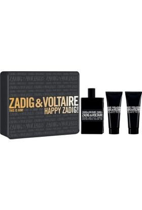 Zadig Voltaire This Is Him Edt 100 Ml + 75 Ml Shower Gel + 75 Ml Shower Gel
