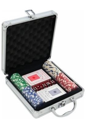 Sedef Alüminyum Çantalı Delux Poker Seti (100 Ad)