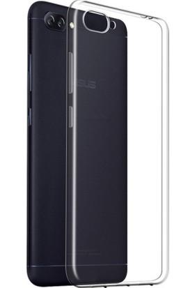 Microcase Asus Zenfone 4 Max ZC554KL İnce Silikon Kılıf + Nano Glass Film