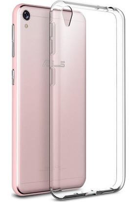 Microcase Asus Zenfone Live ZB501KL Ultra 0.2 Mm İnce Silikon + Nano Glass
