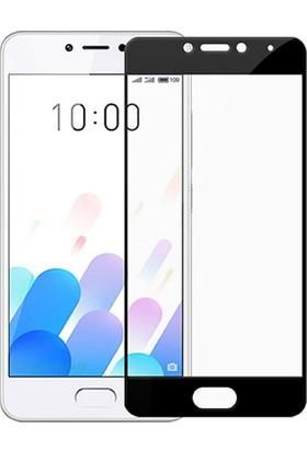 Microcase Meizu M5C / A5 Flexible Çerçeveli Esnek Tempered Cam Ekran Koruyucu